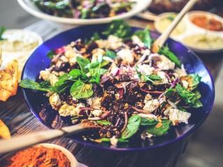 Salad healthy diet spinach
